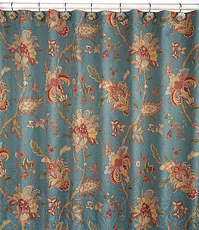 J Queen New York Key Largo Shower Curtain And Hooks Dillards