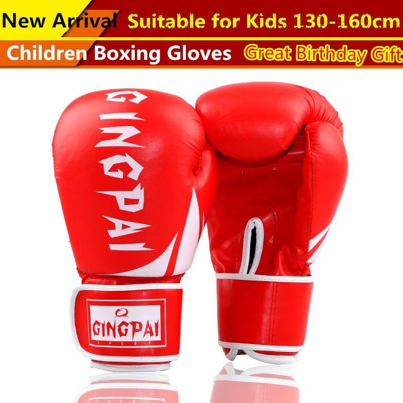 Boxing Gloves Bag Work Sparring Training REAL Leather Kids Men Women Boys Girls
