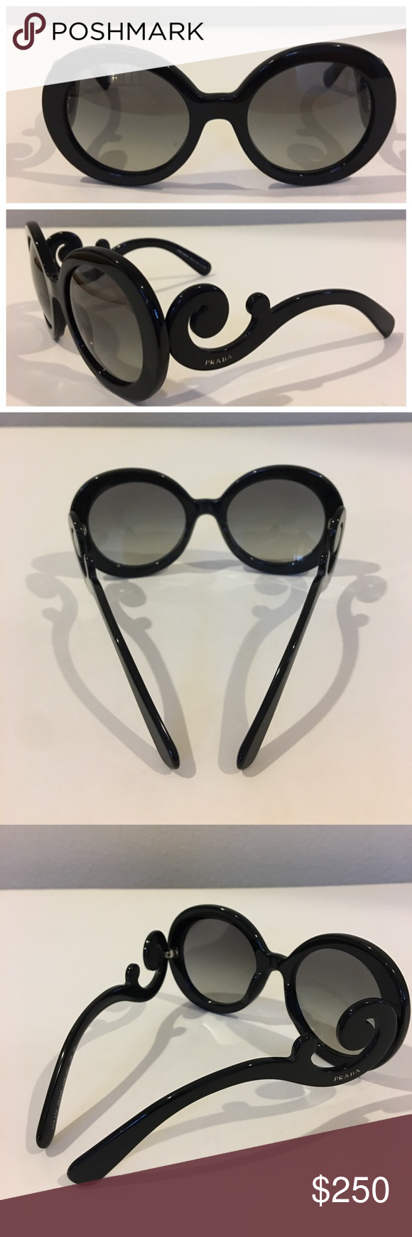 14e11d5c2a9 Authentic PRADA sunglasses Authentic black PRADA sunglasses. Made in Italy