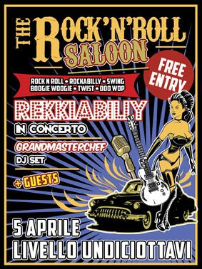 The Rock'n'roll Saloon, special Guest i #Rekkiabilly Sabato 5 aprile 2014 al Livello 11/8 di #Trepuzzi (Le).