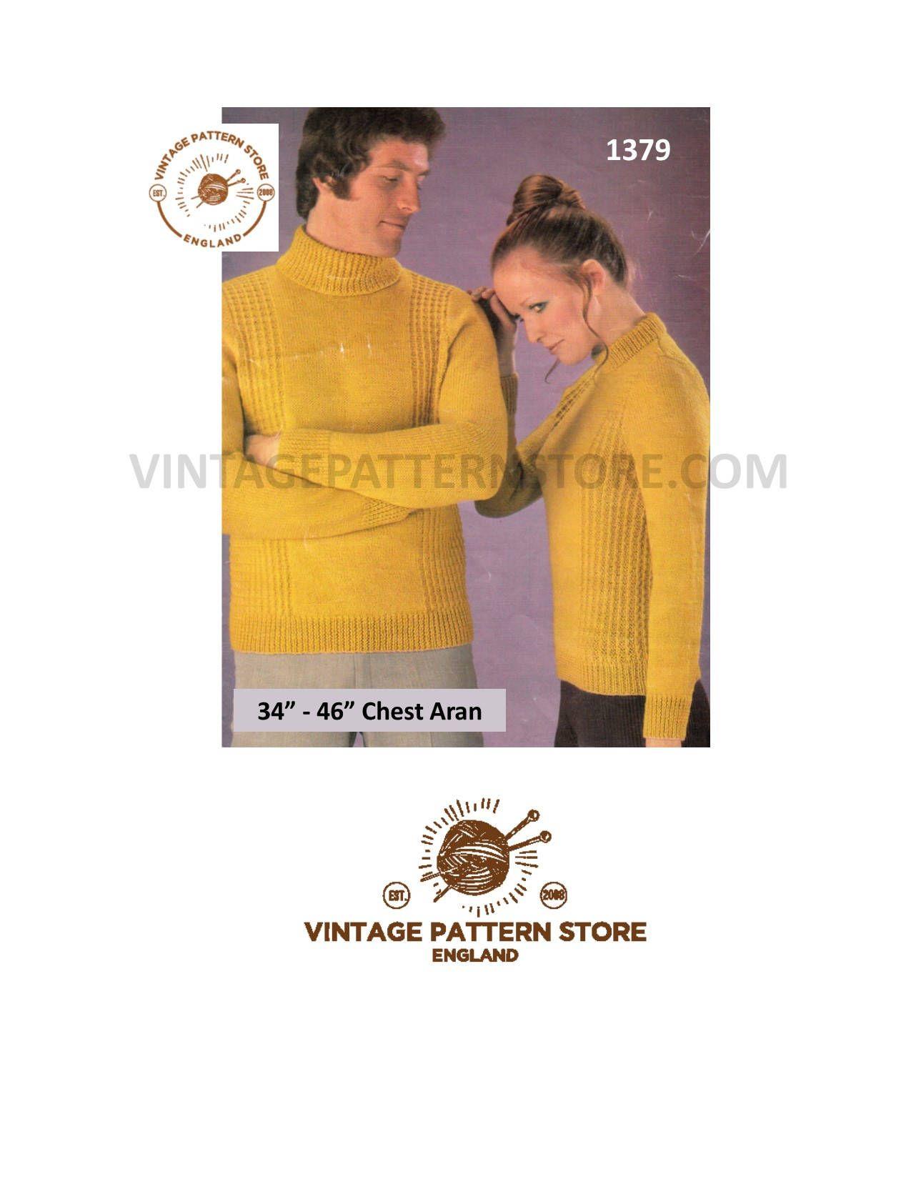 Ladies Velour V-Neck Sweater 70/'s easy knitting pattern Vintage 1970/'s Women/'s Knitting Pattern Instant download PDF e pattern