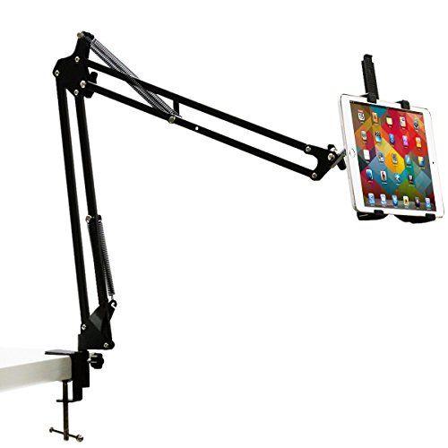 Sturdy Aluminum Arm Tablet Stand Kasonic Hands Free Desk Tablet Stand Adjustable Tablet Stand
