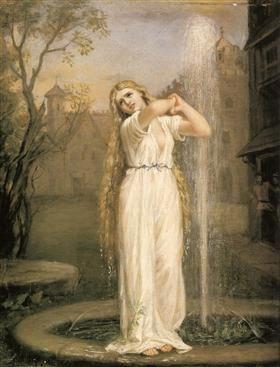Undine, 1872 by John William Waterhouse