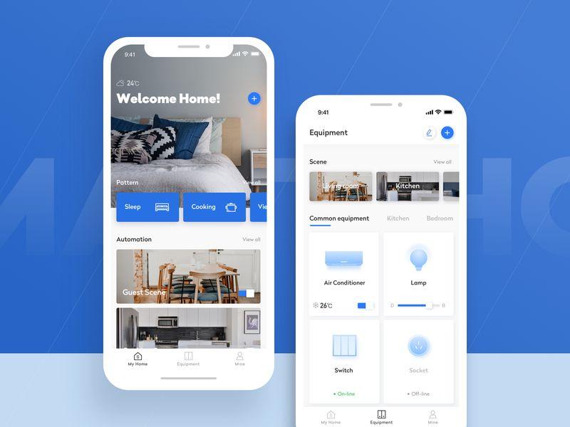 Smart Home 1 Smart Home Smart Home Automation Mobile Design