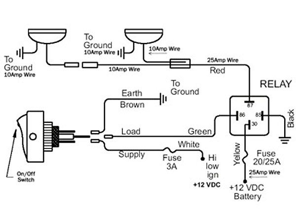 Aux Driving Lights Wiring Diagram