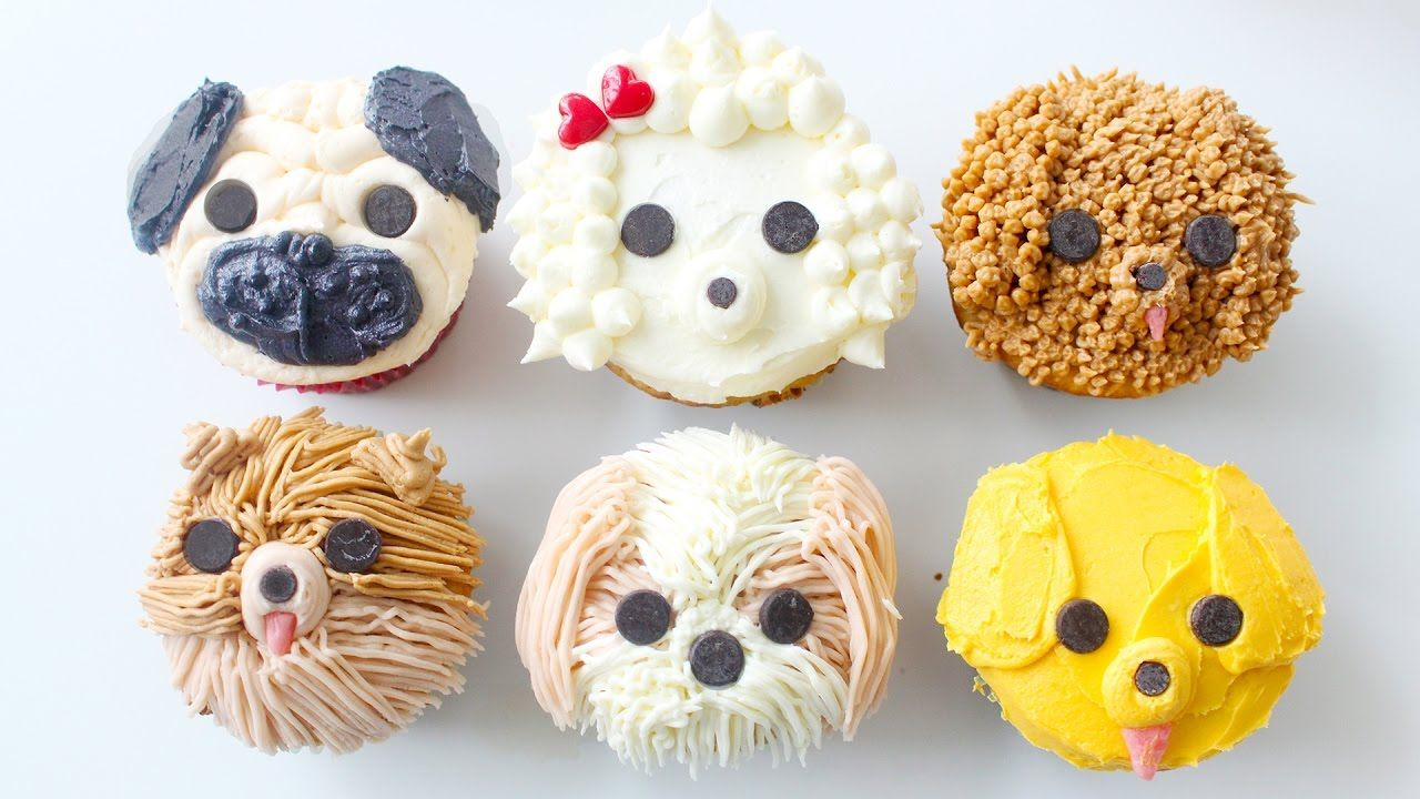 Creative diy cupcake decorating ideas for boys youtube - Diy Dog Cupcakes Pug Pomeranian Golden Retriever Shih Tzu Labradoodle