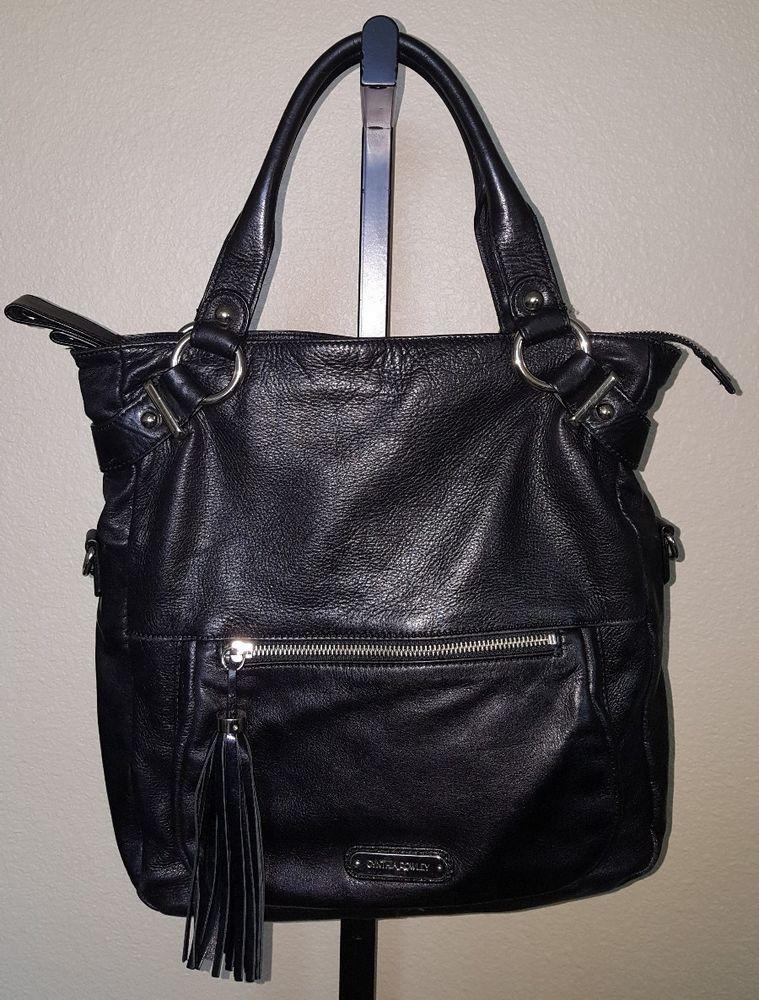 Cynthia Rowley Black Leather Shoulder