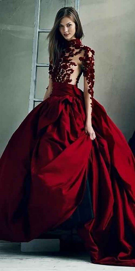 100 Colorful Non-White Wedding Dresses | Red wedding dresses, Red ...