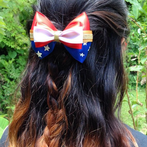 Mini Superman Supergirl Bows with Alligator Clips