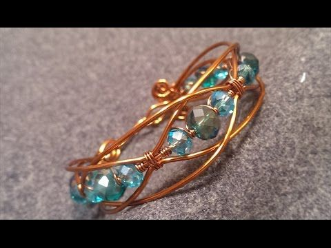 How to make wire bracelet - YouTube | Draht mit Anleitung ...