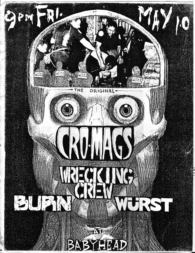 Flyer From Cro Mags Wrecking Crew Burn Wurst Club
