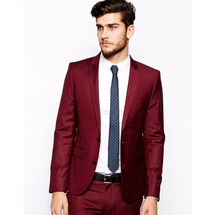 Maroon Slim Fit Suit for Prom | Prom Tuxes | Pinterest | Slim fit ...