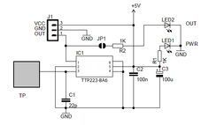 capacitive touch switch circuit
