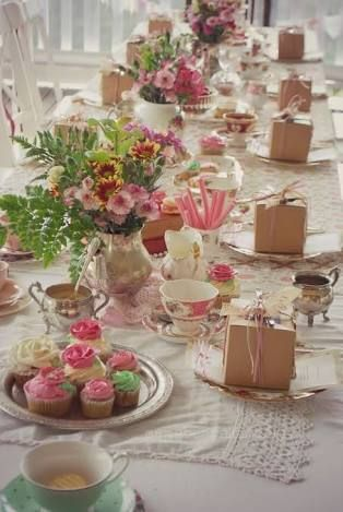 Image result for high tea table setting | Tea Parties & Pretty ...
