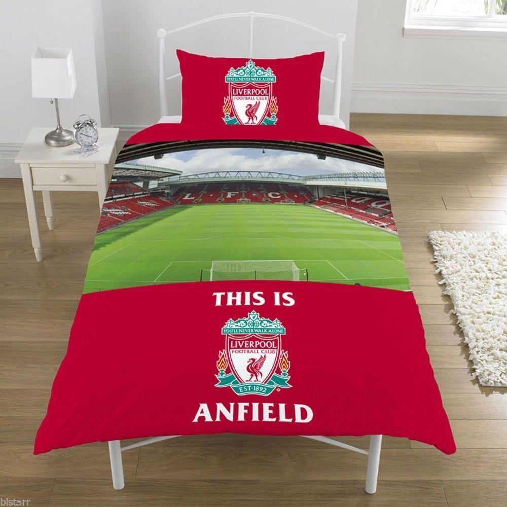 Liverpool Football Club Red Anfield Stadium Single Duvet Set Quilt