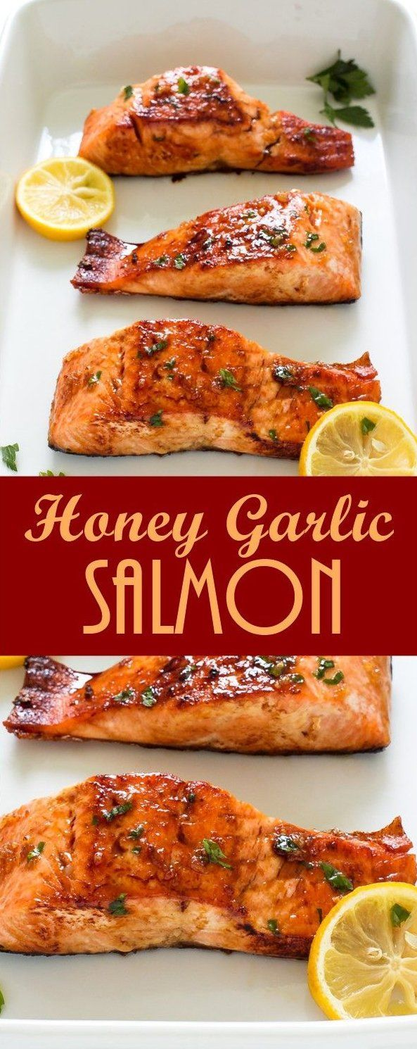 Photo of Minute honey garlic salmon pan fried and served with A, #salmonrecipes #salmon …