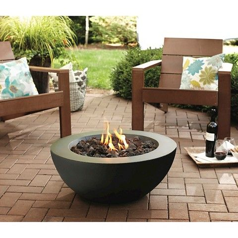 Threshold Round Propane Fire pit - Black - $100 Target - kind of on small  side - Threshold Round Propane Fire Pit - Black - $100 Target - Kind Of