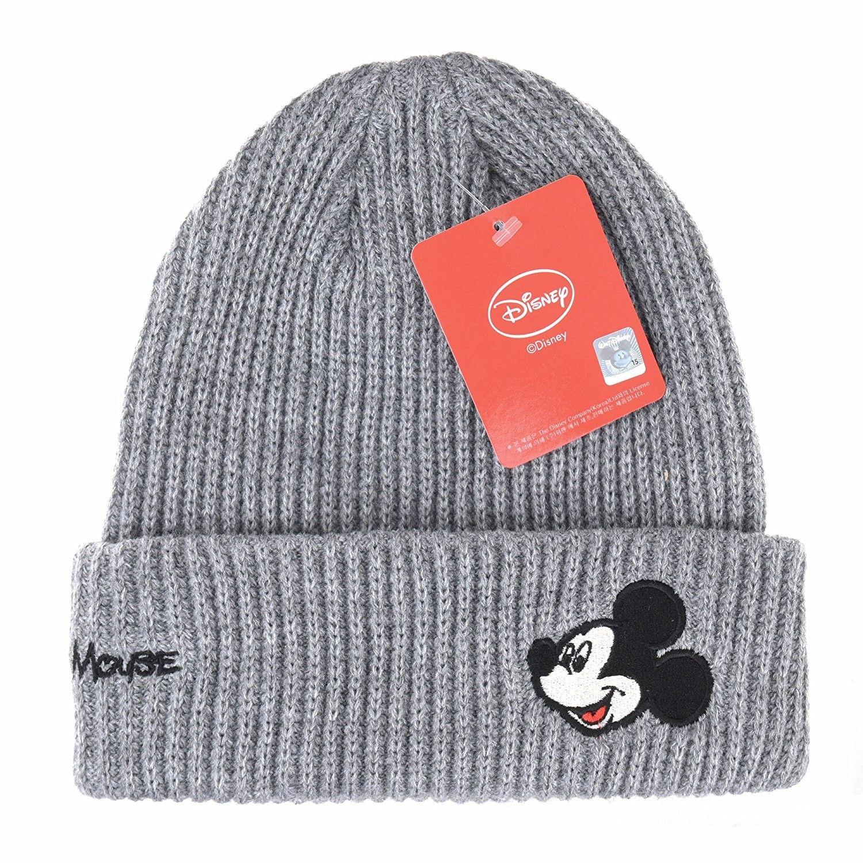 0c4208ec3 Disney Mickey Mouse Ribbed Beanie Hat Slouchy DW5483 - Grey ...