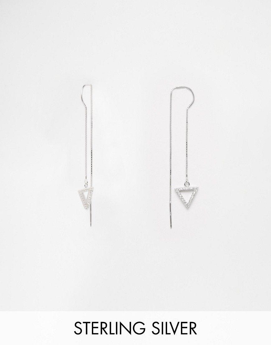 Immagine 1 di Love Rocks - Orecchini double face a triangolo in argento sterling
