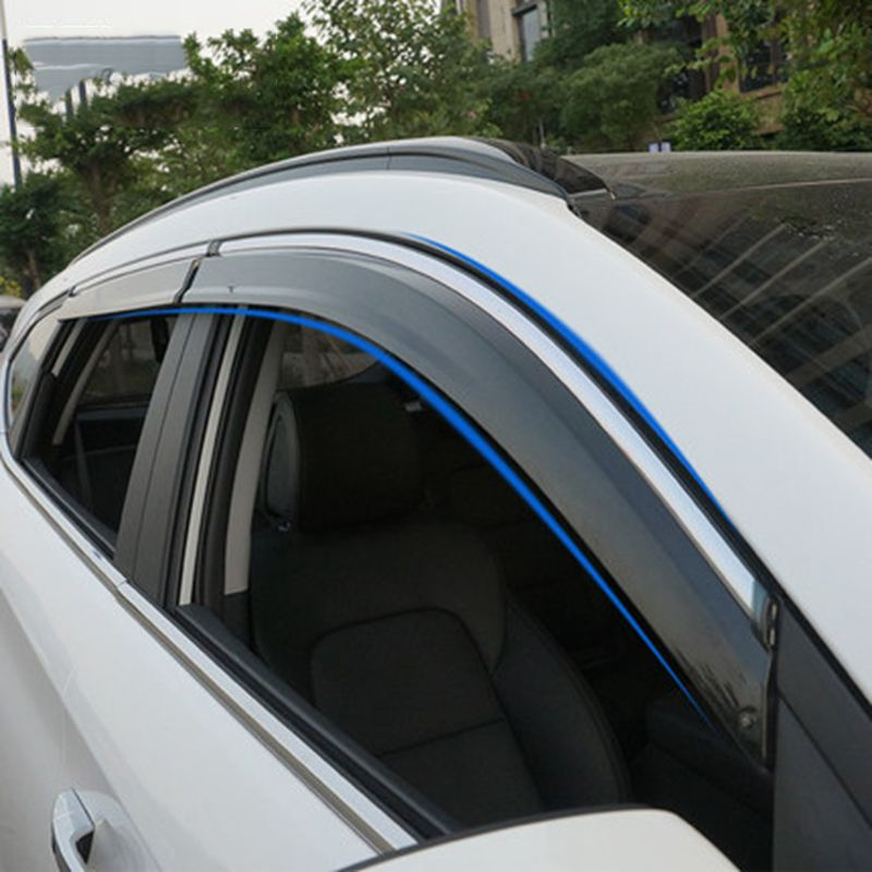 For Hyundai Tucson 2016 2017 Car Accessories Window Visor Sun Rain Wind Deflector Awning Shield Vent Guard Shade Cov Hyundai Hyundai Tucson Hyundai Tucson 2016
