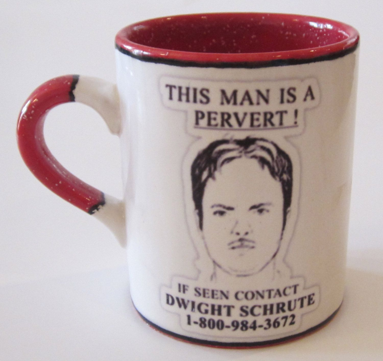 office coffee mugs. The Office TV Show Inspired Dwight This Man Is A Pervert! Regular Or Travel Mug Cup Custom Color Oz. Coffee Mugs U