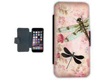 iPhone 7 Plus Plånboksfodral fodral plånbok skal Trollslända  19be5d9b29f2a