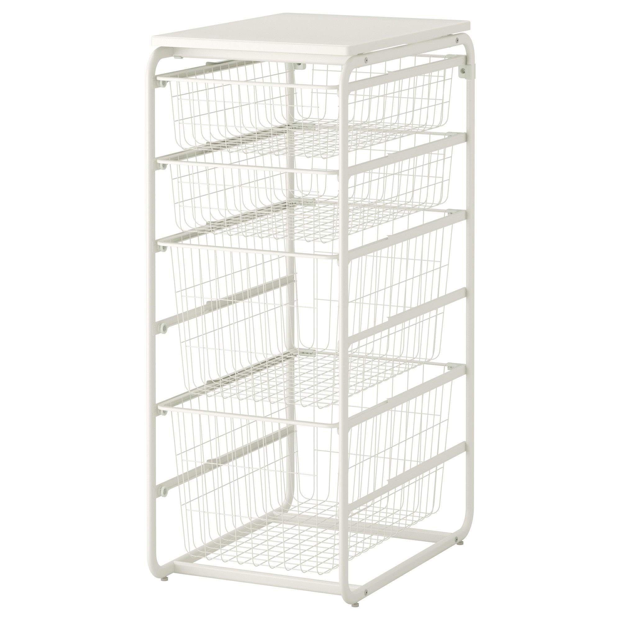 Algot Frame With 4 Wire Baskets Top Shelf
