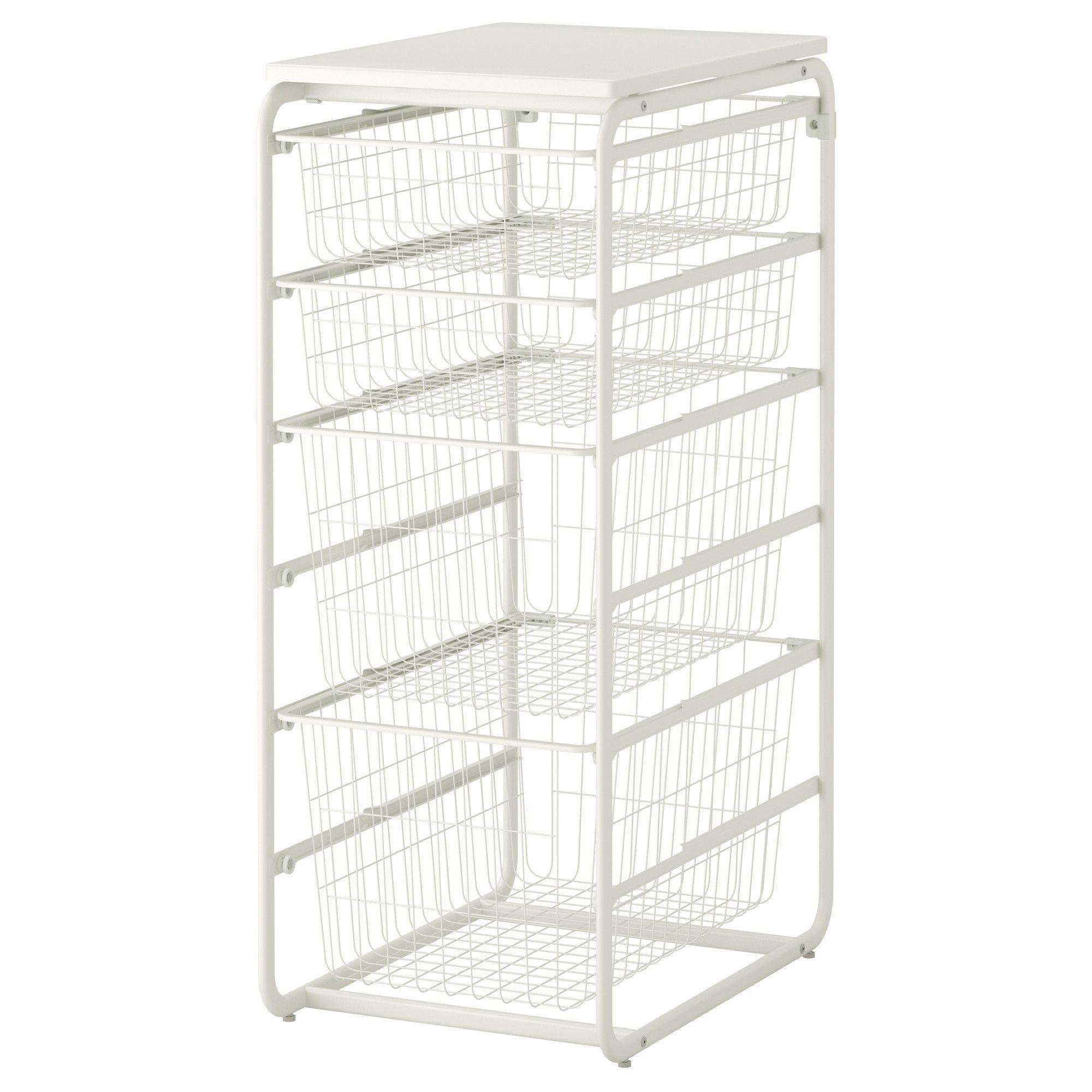 Algot Frame With 4 Wire Baskets Top Shelf