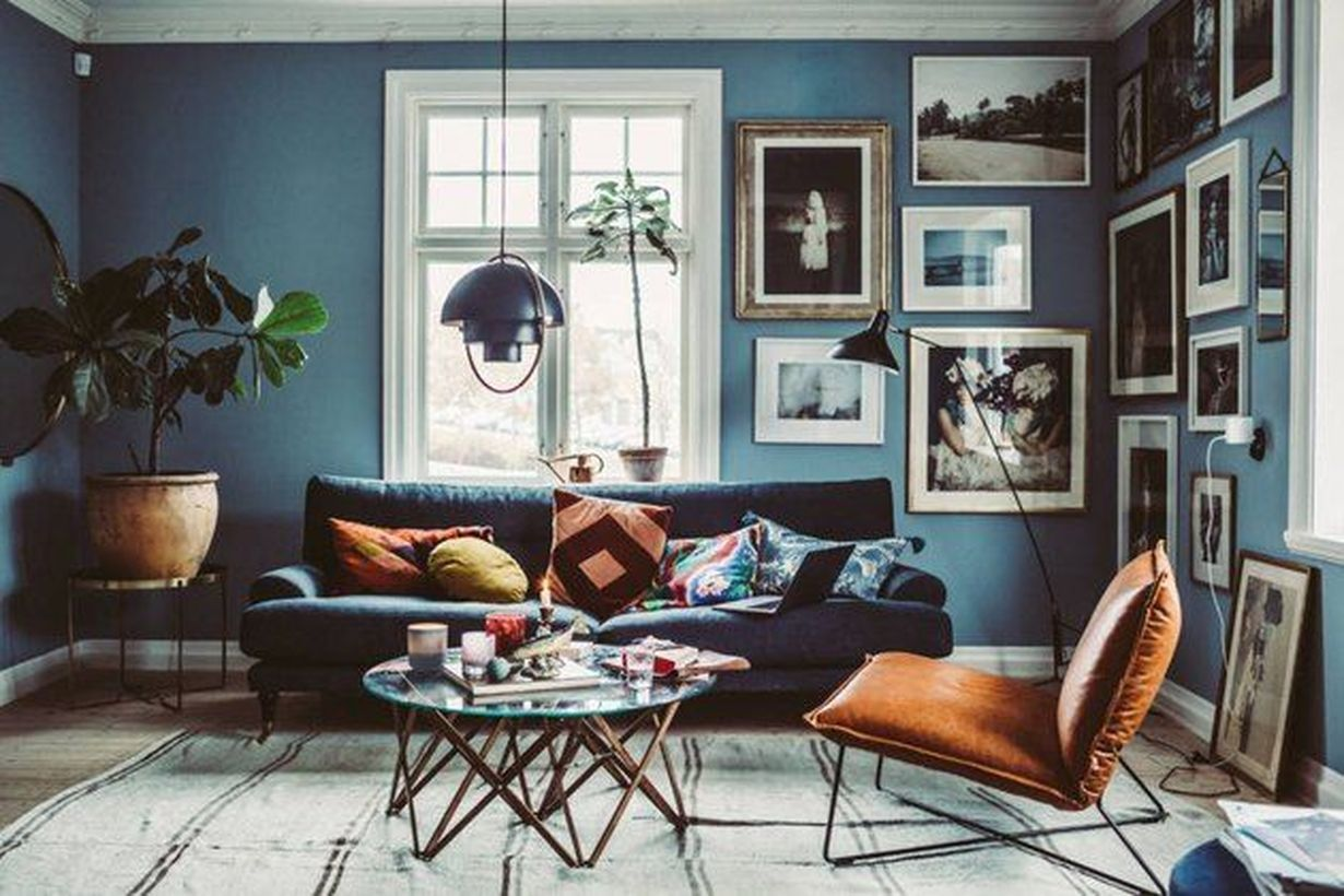 Awesome 54 Superb Leather Lounge Chair Designs Ideas For Living Room More At Https Decoratrend Com Blue Living Room Eclectic Living Room Rustic Living Room