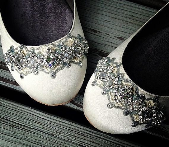 Downton Abbey Bridal Ballet Flat Wedding Shoes All Full Sizes