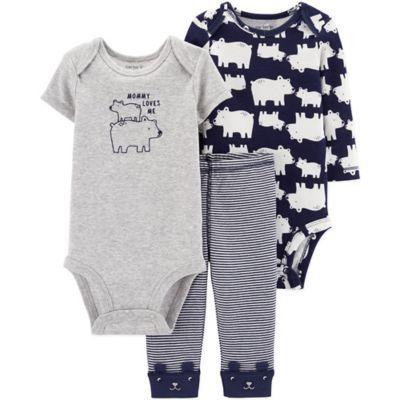 Essentials Baby-Jungen 3-Piece Cardigan Set