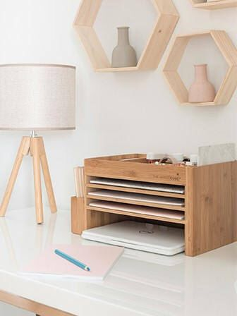 Genial The Space Cube Timber/Wood Desk Caddy + Docking Station, Charging Station.  By