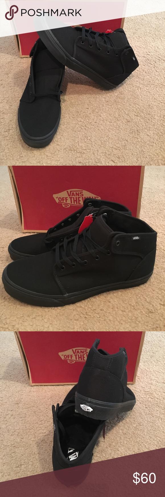 62c765622ac4 Box In New 106 Shoes Black My Mid Sneakers Vans Closet Posh aCCUq