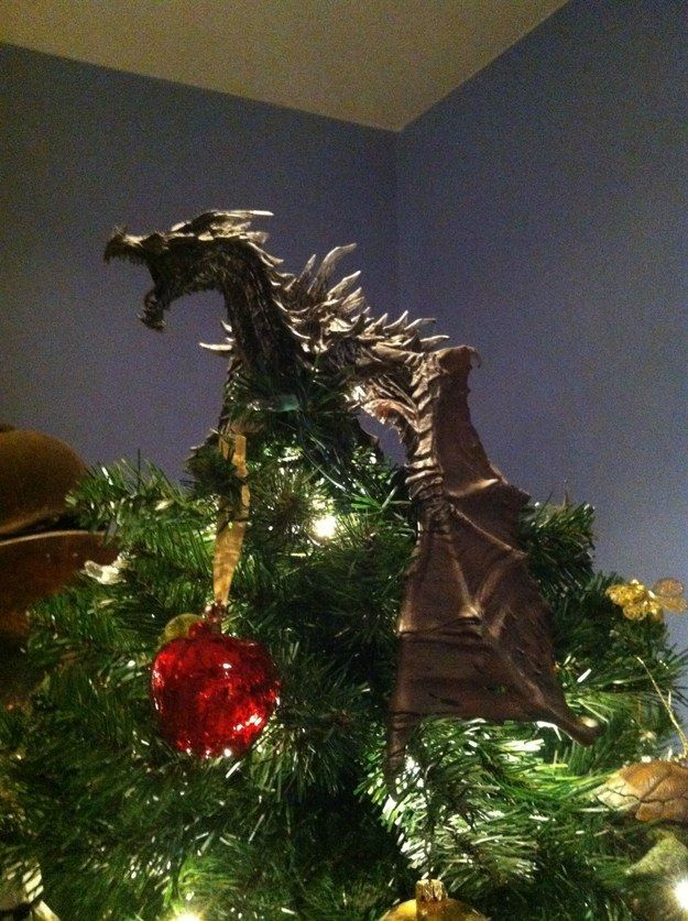 Dragon Christmas tree topper by Shadowind.deviantart.com on ...