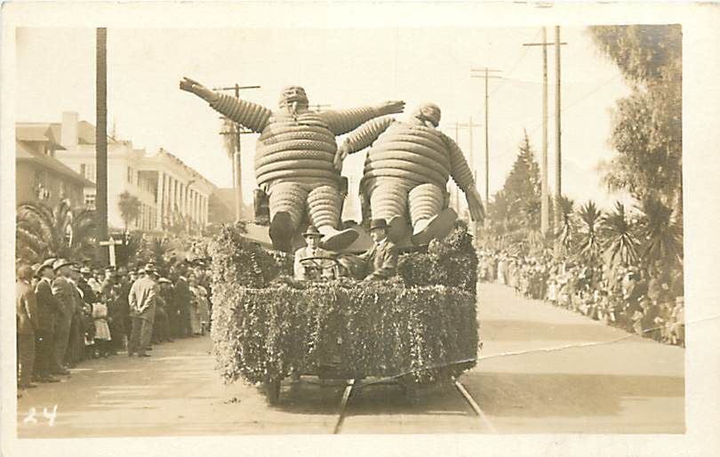 Early photography of the Michelin Man. If they only knew what he'd look like 125 years later!