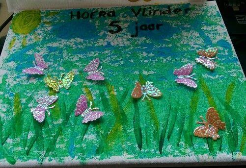 Vlinders in het gras