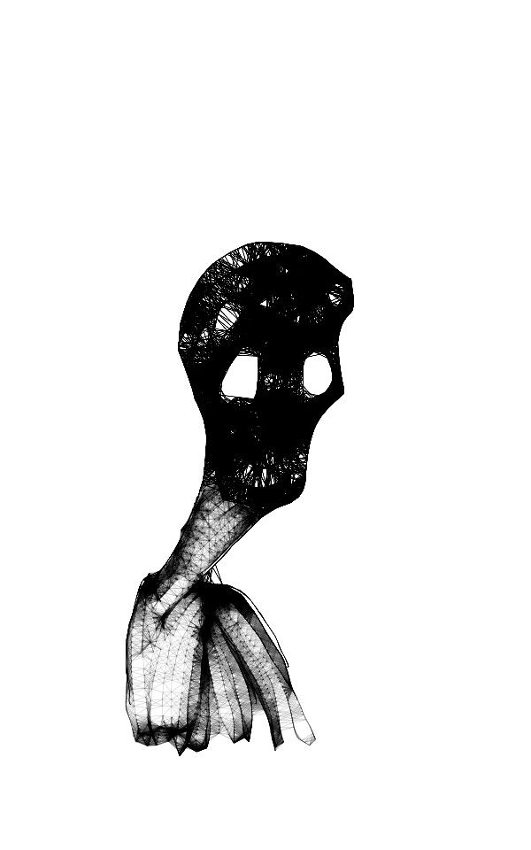 The death sketch on #mobile #black_and_white Hope to like it ..