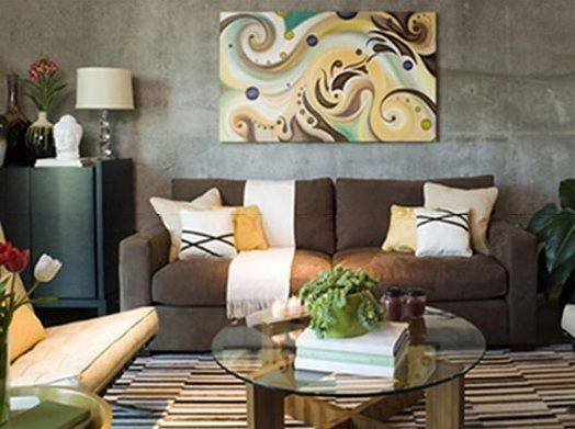 Brown Living Room Decorating Ideas In Stone Textured Wall Living Brown Living  Room Decorating Ideas In