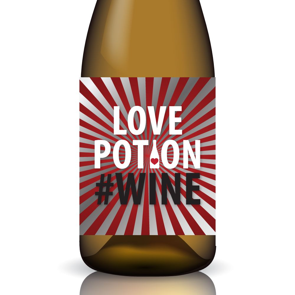 The Love Potion Wine Printable Wine Label Wrap By Gifted Labels Is The Perfect Creative Touch For Valentine S Wine Label Printable Wine Printables Wine Label