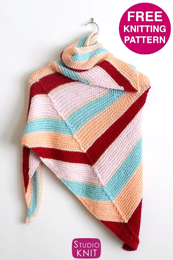 Photo of Easy Asymmetrical Knit Shawl (Pattern)