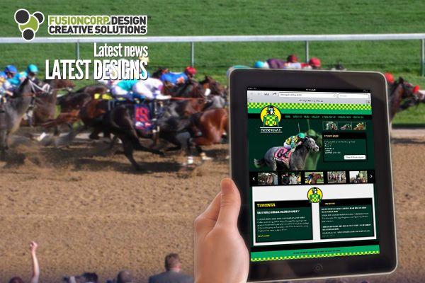 Donegal Racing website redesign.