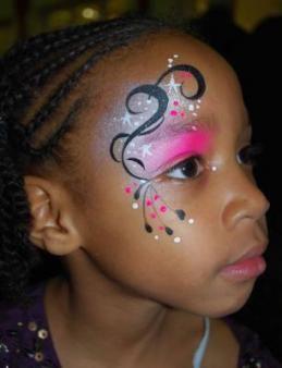 Pink Swirls Facepainting Kco Facepainting Ideas
