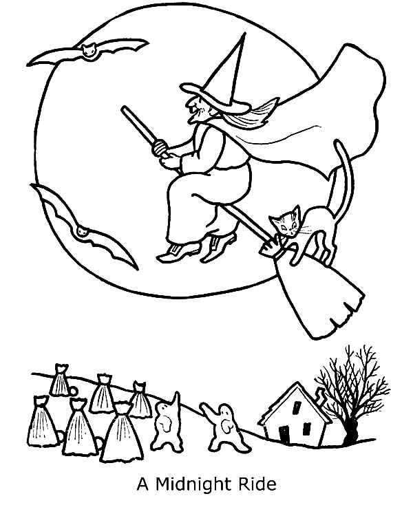 Witch Midnight Ride Coloring Pages Best Place To Color Witch Coloring Pages Coloring Pages Disney Coloring Pages
