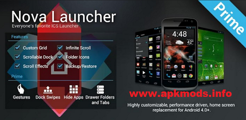 Nova Launcher Prime APK Free Download New Version For
