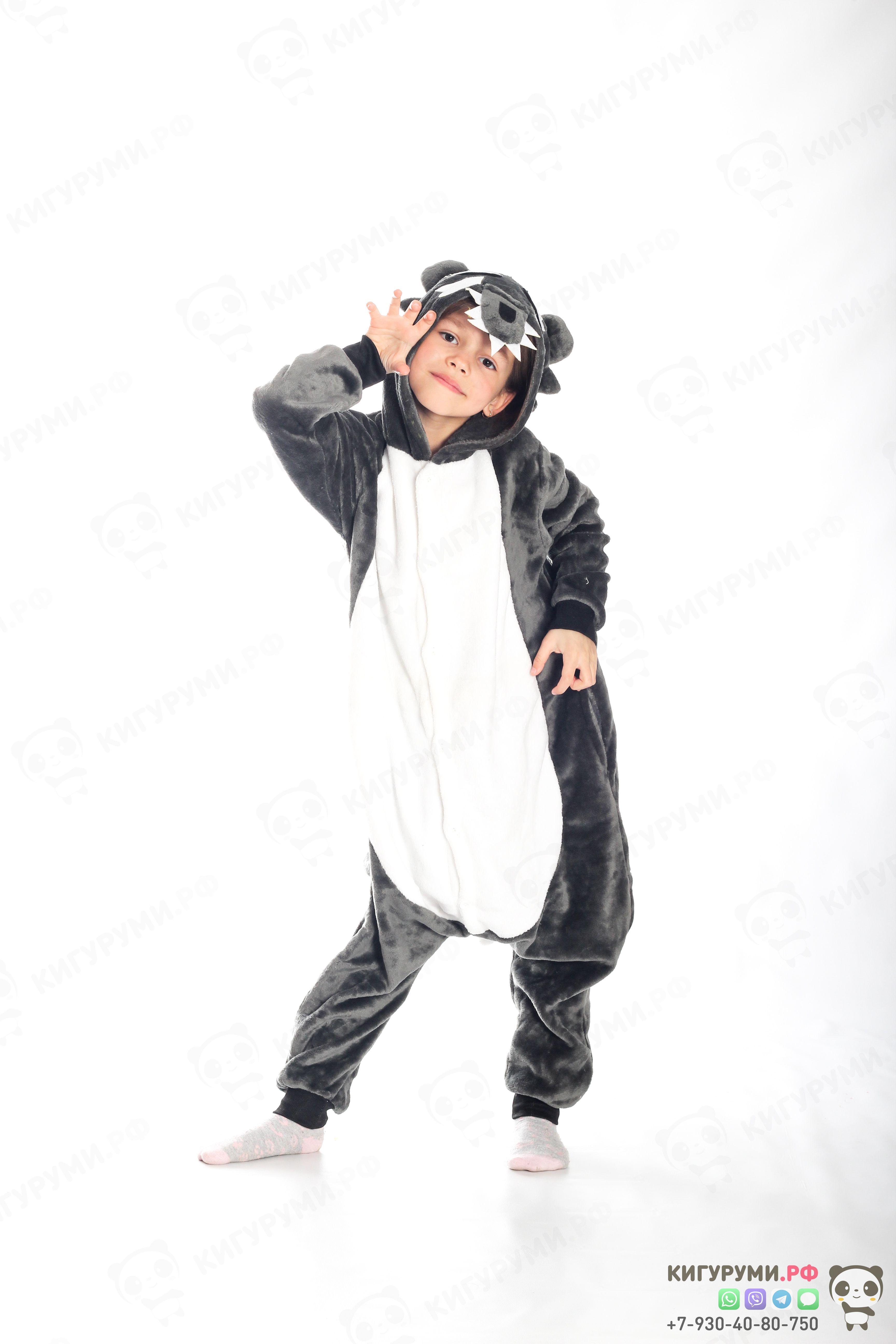 Детская пижама кигуруми Серый волк  46f2df516735a