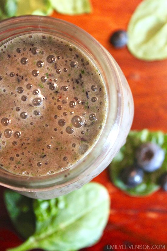 Blueberry Spinach Smoothie | DF, GF, Soy Free