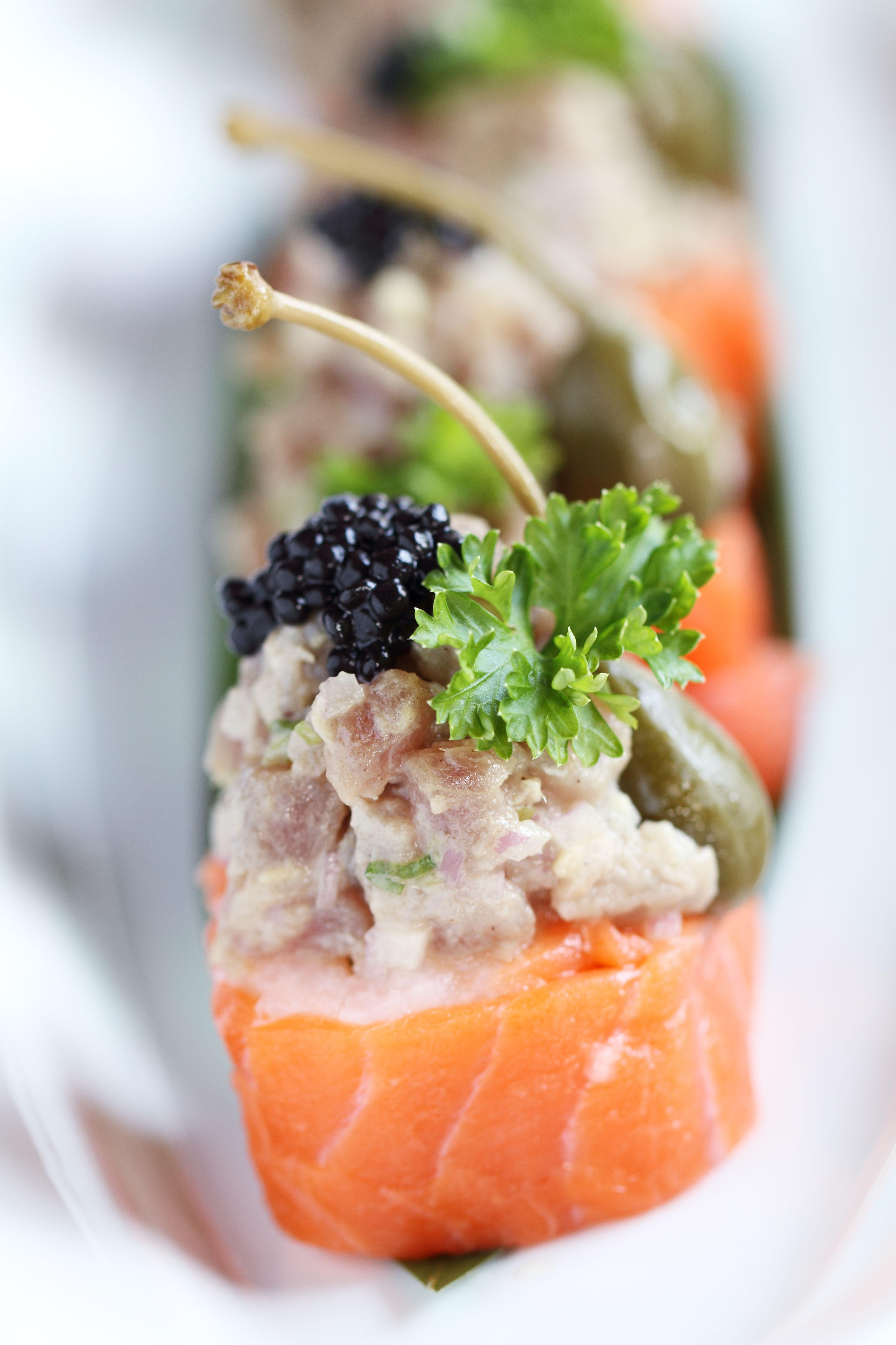 Salmon and Tuna from Hagi Japanese Restaurant at Centara Grand ...