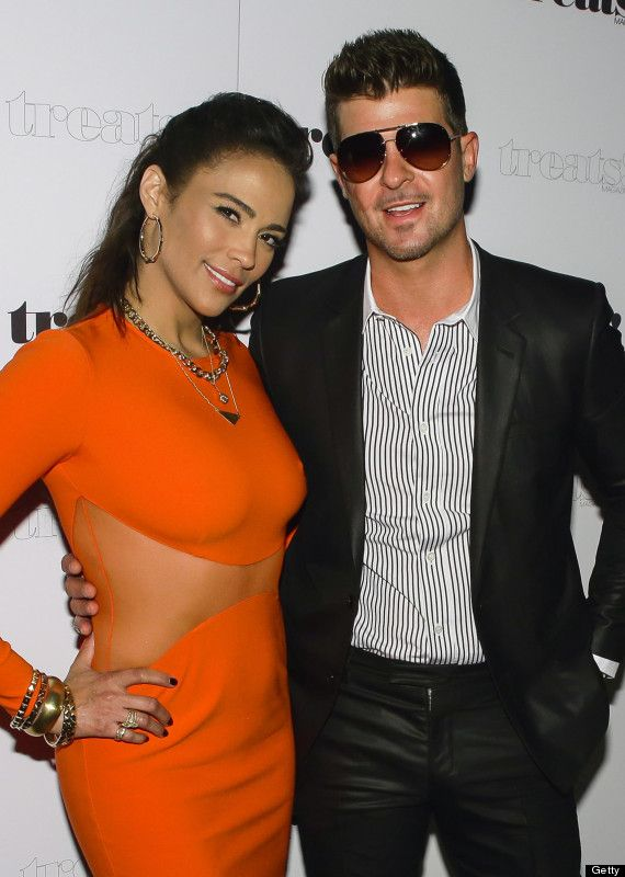 Former husband and wife: Robin Thicke and Paula Patton