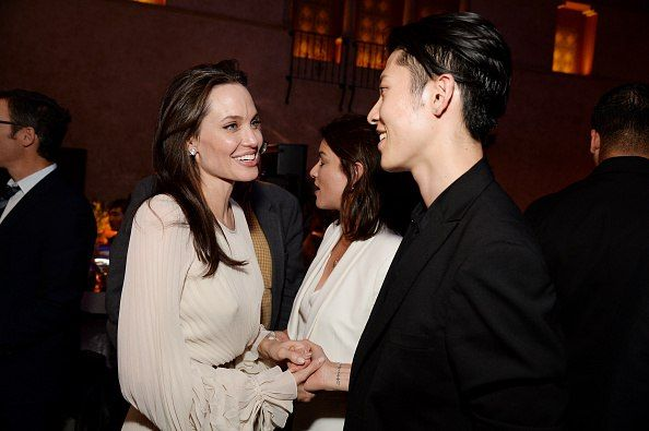 Miyavi Melody And Angelina Jolie At A Party After The Premiere Of