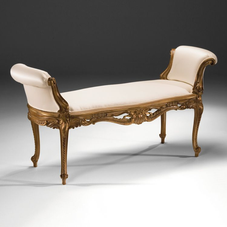 6819 Carved Wood Bench
